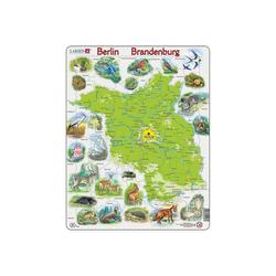 Larsen Puzzle Rahmen-Puzzle, 62 Teile, 36x28 cm, Karte Berlin /, Puzzleteile