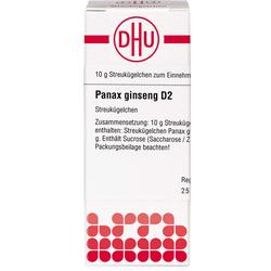 PANAX GINSENG D 2 Globuli 10 g
