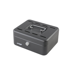 HMF Geldkassette Sparkassette, mit 8 Einwurfschlitzen, 25 x 18 x 9 cm schwarz 25 cm x 9 cm x 18 cm