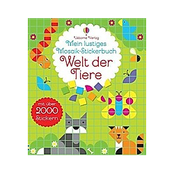 Mein lustiges Mosaik-Stickerbuch: Welt der Tiere - Buch