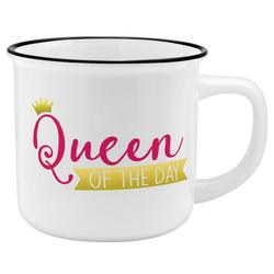 Sheepworld Tasse Auswahl Sheepworld Gruss & Co - Lieblings- Kaffe- Becher Tasse in Emaille Optik Art: Queen of day