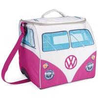 VW Collection by BRISA Outdoor-Flaschenkühler VW T1 Bus Kühltasche, Vollisolierte Kühltasche für VW Bulli T1 Fans rosa