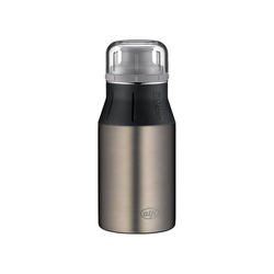 Alfi Trinkflasche Edelstahl Trinkflasche Drinking Bottle cute grau