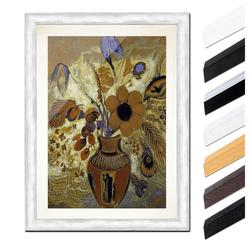 Bilderdepot24 Wandbild, Odilon Redon - Etruskische Vase mit Blumen bunt 20 cm x 30 cm