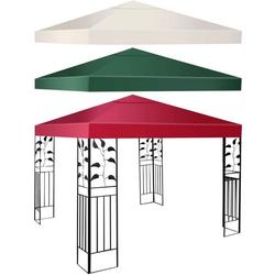 COSTWAY Pavillon-Schutzhülle Dachplane für Pavillon weiß