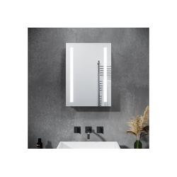 SONNI Spiegelschrank Spiegelschrank Bad 70 × 50 cm Spiegelschrank mit beschlagfrei Badezimmerspiegelschrank mit Kippschalter LED Spiegelschrank IP44 silberfarben