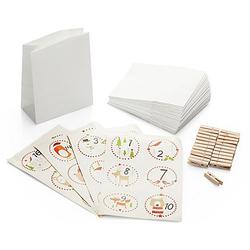 Adventskalendertüten-Set, weiß, 24 Stück