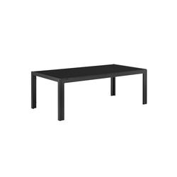 casa.pro Gartenmöbelset, Lerum Gartentisch Glastisch 100x50x35 cm schwarz schwarz