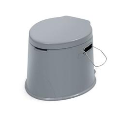 COSTWAY Campingtoilette Reisetoilette, Mobile Toilette, mit Toilettenpapierhalter, für Camping, Wandern und Reisen
