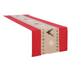 my home Tischläufer Xaver, Weihnachtsdeko rot 40 cm x 180 cm