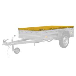 Gelbe Anhänger-Flachplane 200x125 für Anhänger Garden 205