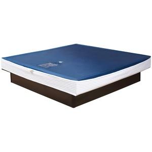 Premium Comfort Wasserkern für Wasserbett oder Wasserbettmatratze - für Bettgröße 160x200 cm - Bettaufbau: Solo - Softsideumrandung: innen keilförmig - Höhe innen: 20-23 cm - Beruhigungsstufe 90% / F6