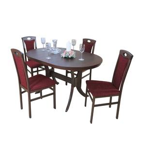 moebel-direkt-online Essgruppe Bella, (Spar-Set, 5-tlg., Auszugs-Esstisch mit 4 Stühlen), Esstisch mit 4 Stühlen rot