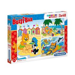 Clementoni® Puzzle Puzzle 3 x 48 Teile Bussi Bär, Puzzleteile