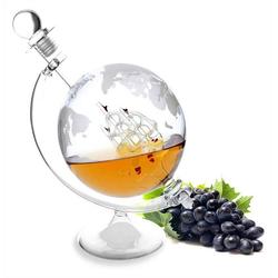 Lantelme Dekanter Dekanter Glaskaraffe mit Schiff 1 Liter, (3-tlg), für Cognac, Wein oder Whiskey