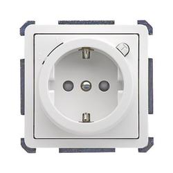 ELSO 205124, Steckdose bedruck Waschmaschine 16A FASHION/RIVA/SCALA Steckklemme reinweiß