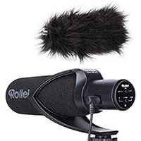 Rollei 28701 Mikrofon Schwarz Digitales Kameramikrofon