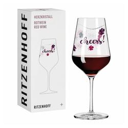 Ritzenhoff Rotweinglas Herzkristall Rotwein 005, Kristallglas, Made in Germany bunt