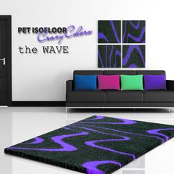 MATDOX Pet Isofloor SX theWAVE purple, Maße: 75 x 50 cm