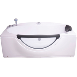 Sanotechnik Whirlpool-Badewanne Acryl, (4-tlg), 170/90/68 cm, mit Fenster, Acryl