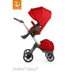 STOKKE® Xplory® V5 Kinderwagen Red mit Sitz und Einkaufstasche