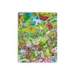 Larsen Puzzle Rahmen-Puzzle, 42 Teile, 36x28 cm, Schmetterlinge, Puzzleteile