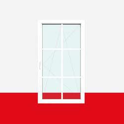Sprossenfenster Typ 6 Felder Weiß 18mm SZR Sprosse 1 flg. Dreh-Kipp Fenster