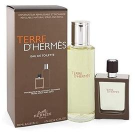 Hermès Terre d'Hermes Eau de Toilette refillable 30 ml + Eau de Toilette Nachfüllung 125 ml Geschenkset