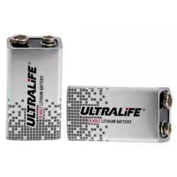 ULTRALIFE Lithium 9-V-Block-Batterie 1,2 Ah