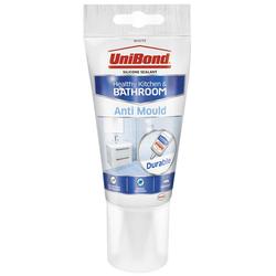 UniBond 2079321 Anti-Mould Kitchen & Bathroom Sealant Tube White 147g