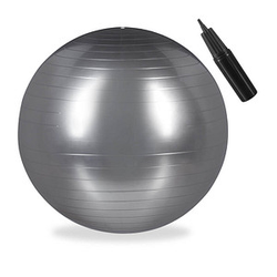 relaxdays   Gymnastikball silber 85,0 cm