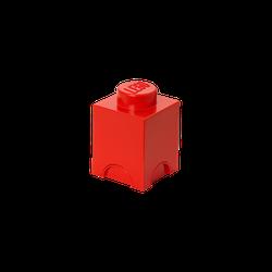 LEGO® Aufbewahrungsstein mit 1 Noppe in Rot