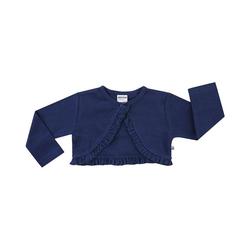 JACKY Bolero Kinder Jerseybolero mit Rüschen, creme blau 116