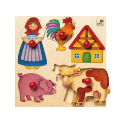 Selecta Puzzle Bauernhof 5-tlg. 20 cm ab 24 Monaten, 5 Puzzleteile