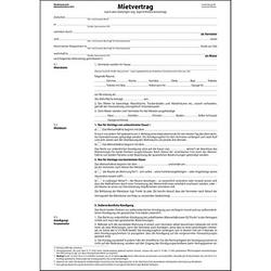 25 SIGEL Mietverträge MV466 - für die Vermietung von Wohnraum mit Hausordnung und detaillierten Angaben zu Miete und Nebenkosten
