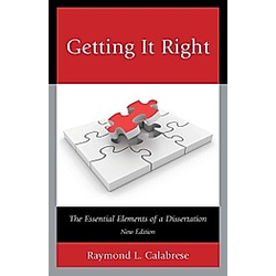 Getting It Right. Raymond L. Calabrese  - Buch