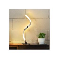 kueatily Salzkristall-Tischlampe Spiral Tischlampe, gebogene LED Schreibtischlampe, 6W warmweißes Licht mit 1,5 m Kabel