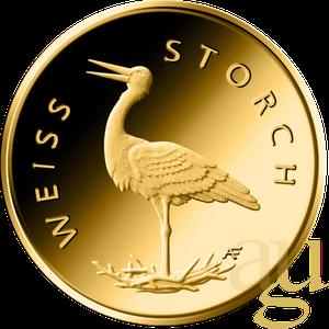 20 Euro Goldmünze Heimische Vögel - Weißstorch 2020 (J)