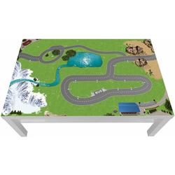 STIKKIPIX Möbelfolie LCG13, (MÖBEL NICHT INKLUSIVE) Eisenbahn Möbelfolie, LCG13, passgenau für den Lack Spieltisch von IKEA