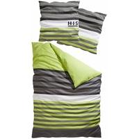 H I S Majoran Linon grün 135 x 200 cm + 80 x 80 cm