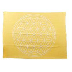 Wolldecke Baumwolldecke Blume des Lebens, yogabox gelb