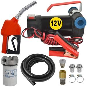 AMUR Dieselpumpe Ölpumpe Heizölpumpe Biodiesel Selbstansaugend Diesel Star 160-1-4-12V Dieselpumpe mit Anschliss 12V Kompletes Set mit 6m Gummi-Schlauch, Automatik-Zapfpistole, Diesel-Filter
