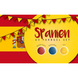 UV Farbgel Set - Spanien 5ml