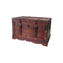 HMF Schatzkiste Frankreich, Schatztruhe, aus Holz, 60 x 35 x 38 cm