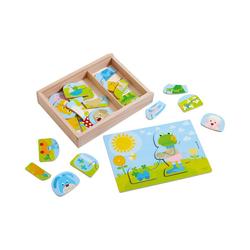 Haba Steckpuzzle HABA 303186 Holzpuzzle Lustiger Tiermix, Puzzleteile