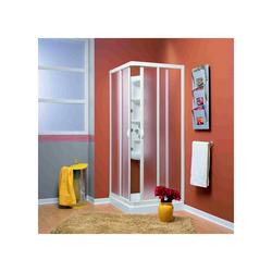 Duschkabine, Eckeinstieg, STUTTGART, Acryl-Glas / Kunststoff, Fb. weiss