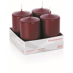 Kerzen Stumpemkerze Kleintray Kerzen Bordeaux 100X60mm 4 Stück