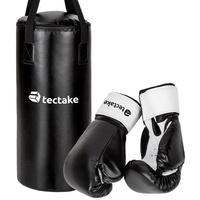 Tectake Fliege Boxsack für Kinder inkl. Boxhandschuhe (1-St) schwarz