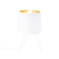 Moderne Tischlampe weiß - Lofty