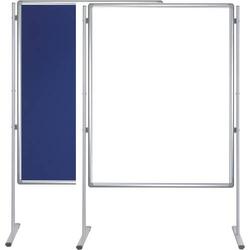 Stellwandtafel Whiteboard/Filz 120x150cm blau